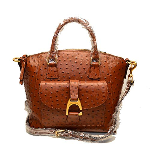 Dooney and Bourke Naomi Ostrich Satchel Cognac Exclusive