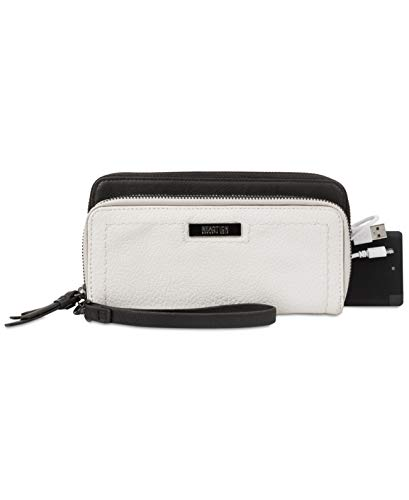 Kenneth Cole Reaction Wristlet with Battery Charger (White, One Size)