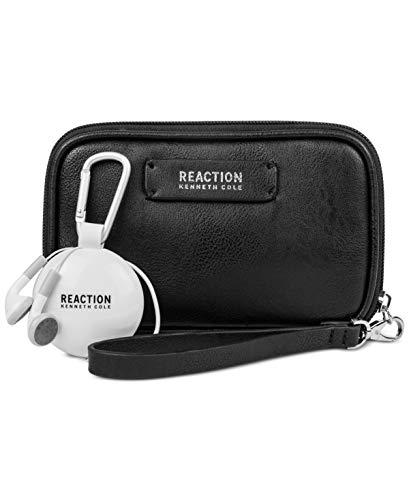 Kenneth Cole Reaction Take Charge Wristlet with Retractable Earbuds (Black)