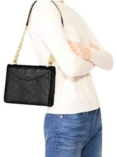 Tory Burch Alexa Combo Crossbody Women's Leather Handbag 55042 (Black)