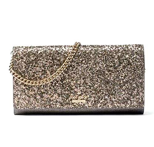 Kate Spade Laurel Way Glitter Milou Evening Clutch Bag – Gunmetal
