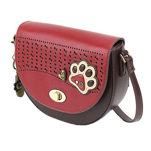 Chala Handbags Paw Print Half Moon Crossbody Handbag Purse – Dog Lovers Dog Mom