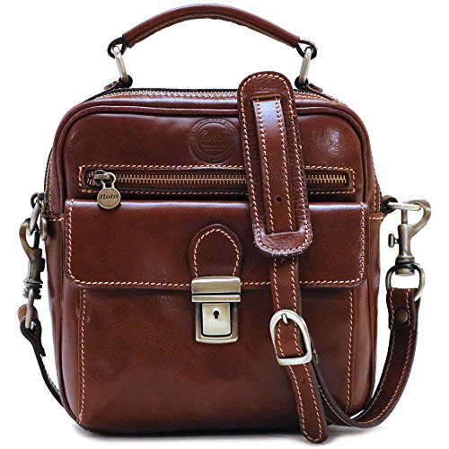 Cenzo Leather Field Bag Satchel Cross Body