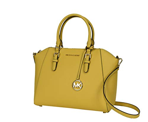 Michael Kors Large Ciara Top Zip Womens Satchel (Dusty Daisy)