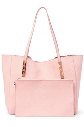 Ted Baker Pionila Pebbled Leather Pink Shoulder Bag Tote w Removable Pouch