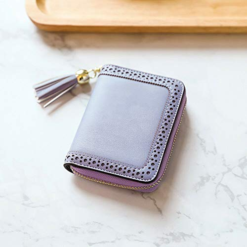 Fashion Women Girls Leather Wallet Card Holder Coin Purse Clutch Small Handbag (Color – Purple)