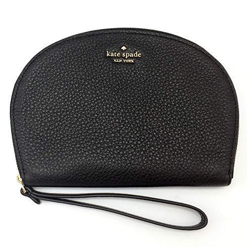 Kate Spade Half Moon Jackson Soft Leather Wristlet Black