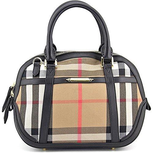 Burberry Sartorial House Check Bowling Bag – Black