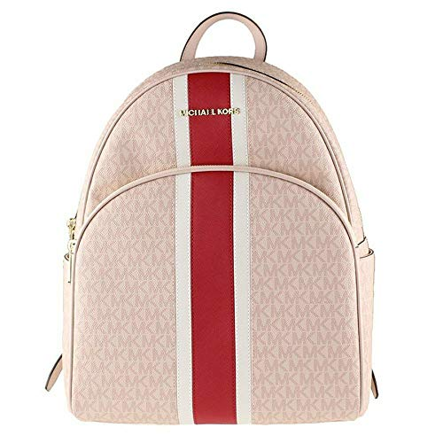 MICHAEL Michael Kors Abbey Large Signature Backpack Ballet Red