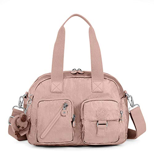 Kipling Defea Metallic Handbag One Size Rose Gold Metallic