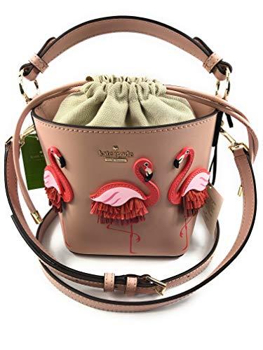 Kate Spade New York Flamingo Pippa By The Pool Drawstring Bucket Bag Warmvellum