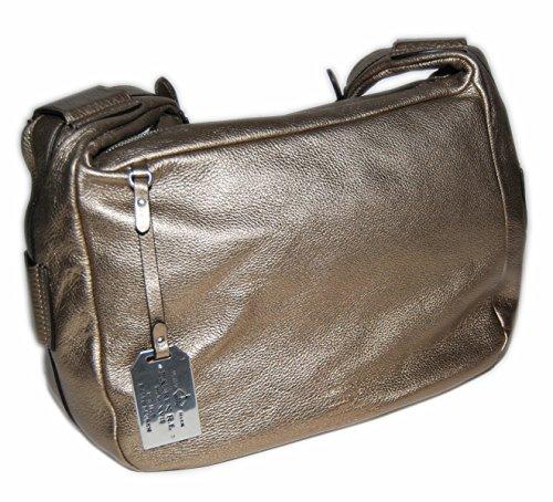 Ralph Lauren Womens Polo Collection Leather Dress Handbag Purse Bag Bronze Gold