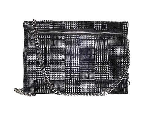 BCBG Maxaria Zarina Convertable Wallet, Black Plaid, BMWF18349P