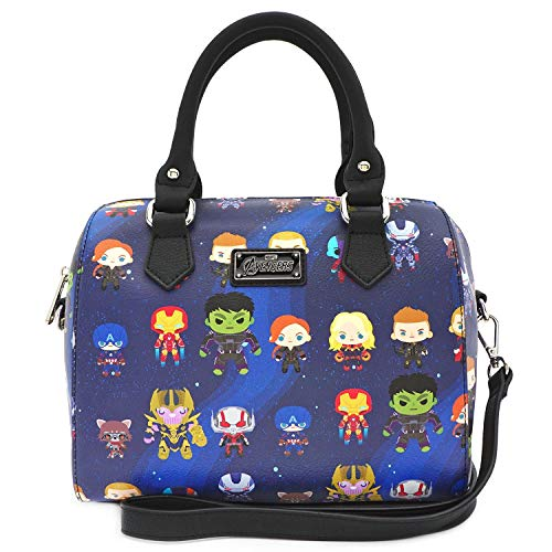 Loungefly Marvel The Avengers Chibi All Over Print Duffle Bag Purse – MVTB0077