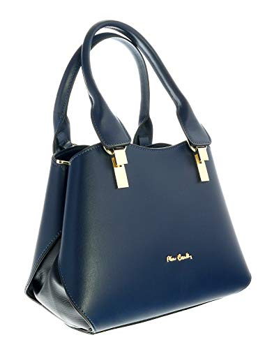 Pierre Cardin 1677 OCEANO Dark Blue Satchel Handbags for womens