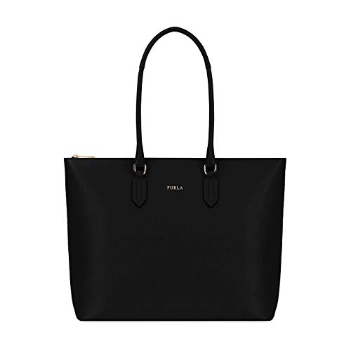 Furla Pin Ladies Medium Black Onyx Leather Tote 978770