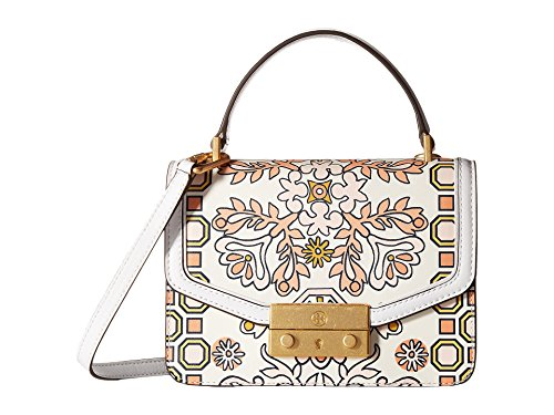 Tory Burch Juliette Mini Glossy Leather Crossbody Satchel (Hicks Garden)