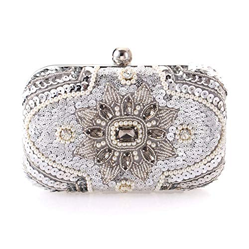 MXYYY Ladies Rhinestone Frosted Envelope Clutch Evening Bridal Handbag Purse