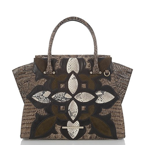 Brahmin Priscilla Satchel Elmwood Palazzo Leather