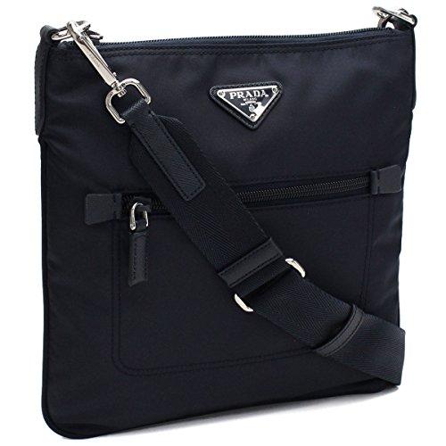 Prada Black Tessuto Nylon Messenger Crossbody Handbag 1BH716