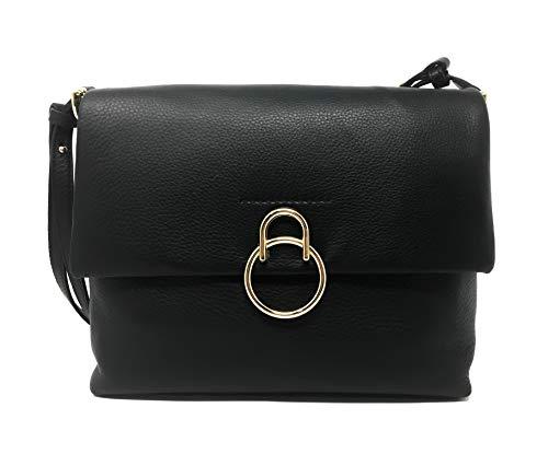 VINCE CAMUTO Plum Shoulder Handbag, Leather, Black