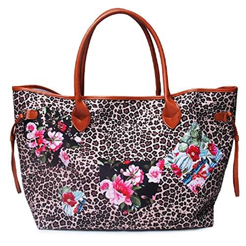 Luxury Handbags Women Bag Designer Soft Canvas Casual Totes Large Capacity Ladies Purse Zipper Pouch Fashion Top-Handle Bag Gril,Flower,Women Handbag