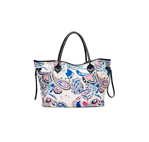 Fashion Handbags Designer Soft Canvas Beach Tote Bags Ladies Large Capacity Top-Handle Purse,With Embroidery,Women Handbag