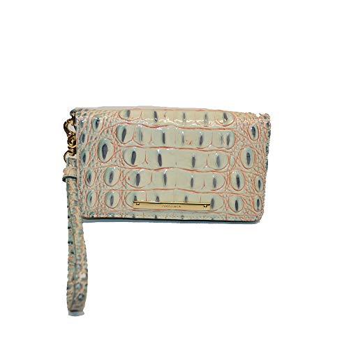 Brahmin Debra Croco emb Leather Wristlet Aquarelle Melbourne
