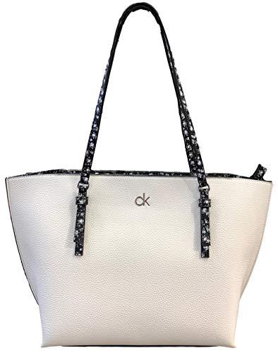 Calvin Klein Haley Logo Tote, White