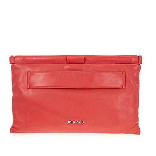 Miu Miu Nappa Leather Clutch – Red