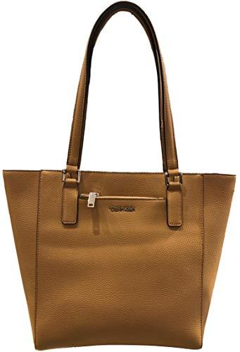 Calvin Klein Zip front pocket Tote, Tan