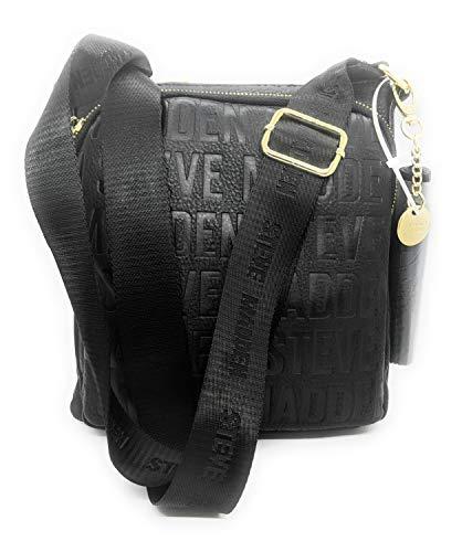 Steve Madden Women's Bglamm Crossbody Bag with Gold Hardware, Black (DT517015)