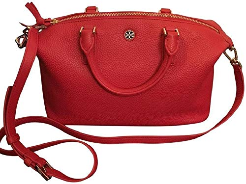 Tory Burch 52909 Liberty Red Brody Small Slouchy Leather Satchel