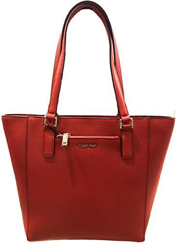 Calvin Klein Zip front pocket Tote, Red