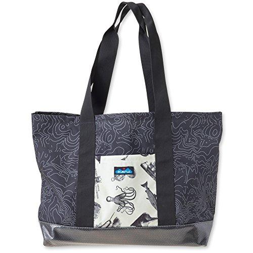 KAVU Shilshole Tote Bag, Black Topo, One Size