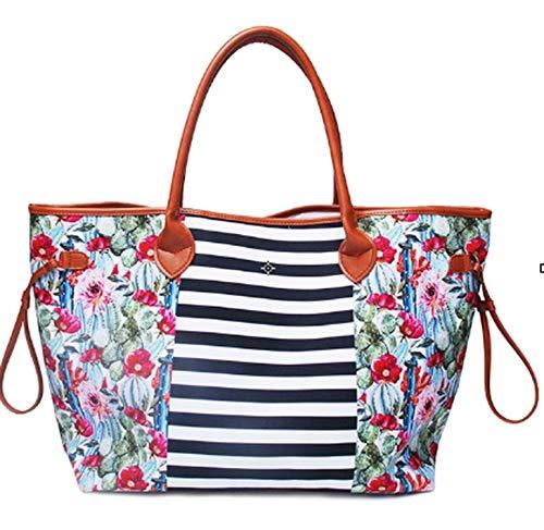 Luxury Handbags Women Bag Designer Soft Canvas Casual Totes Large Capacity Ladies Purse Zipper Pouch Fashion Top-Handle Bag Gril,Stripe,Women Handbag