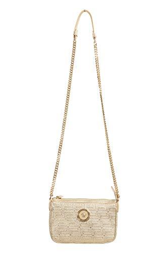 Versace 100% Leather Gold Chain Strap Women's Crossbody Shoulder Bag