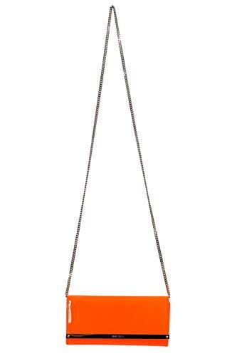 Jimmy Choo 100% Leather Orange Women's Shoulder Bag Clutch