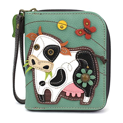 Chala Handbags Cow Zip-Around Wallet/Wristlet Cow Collectors