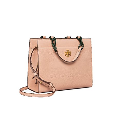 Tory Burch Kira Leather Small Tote Handbag in Perfect Sand