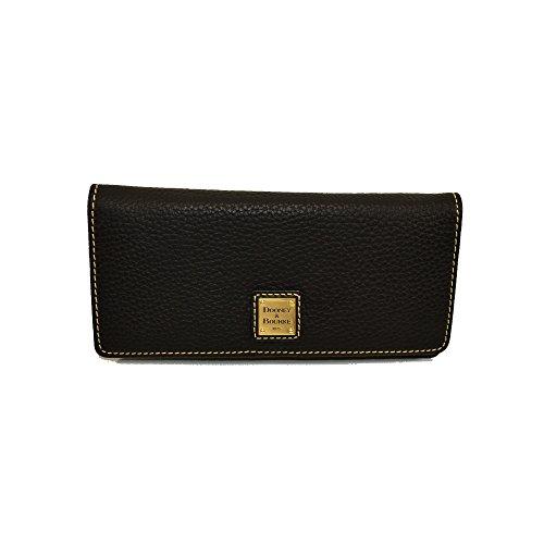 Dooney & Bourke Pebble Leather Slim Snap C. Card Wallet Clutch ZR035 BB