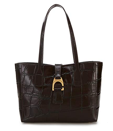 NEW AUTHENTIC DOONEY & BOURKE SMALL SHANNON LEATHER SHOULDER HANDBAG TOTE (Espresso)