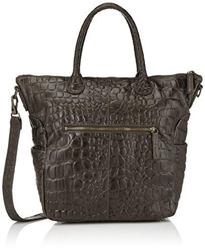 Liebeskind Berlin Zoea Grey Croc Embossed Leather Tote Bag