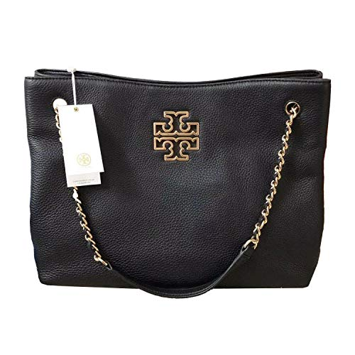 Tory Burch 55443 Britten Triple Compartment Women's Tote (Black)