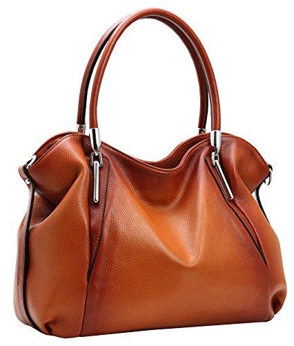 Heshe Women's Leather Handbag Shoulder Bags Work Tote Bag Top Handle Bag Ladies Designer Purses Satchel