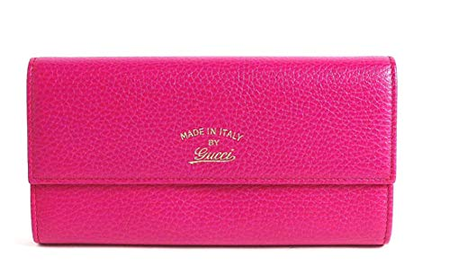 GUCCI WOMEN'S 354496CAO2G6365 FUCHSIA LEATHER WALLET