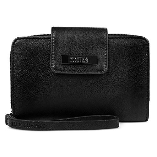 KENNETH COLE REACTION/WESTPORT CORP Kenneth Cole Reaction Never Let Go Tech Tab Wristlet Black ONE SIZE