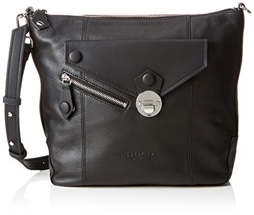 Ashobom Asym, Women's Shoulder Bag, Black (Schwarz (Schwarz (Black))), 10.0×34.0x29.0 cm (B x H T)