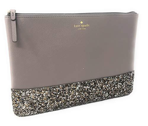 Kate Spade New York Leather Glitter Gia Greta Street Clutch Bag City Scape