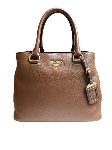 Prada Women's Brown Vitello Phenix Leather Handbag 1BA058
